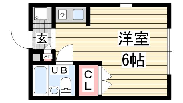 物件番号: 1123104492 NEST六甲  神戸市灘区篠原本町1丁目 1R ハイツ 間取り図
