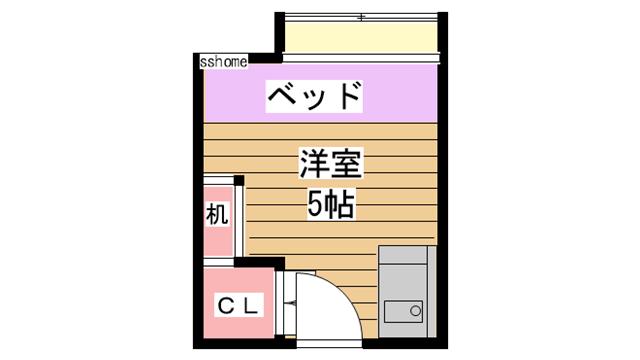 物件番号: 1123106680 ドミトリー太田  神戸市灘区篠原台 1R マンション 間取り図