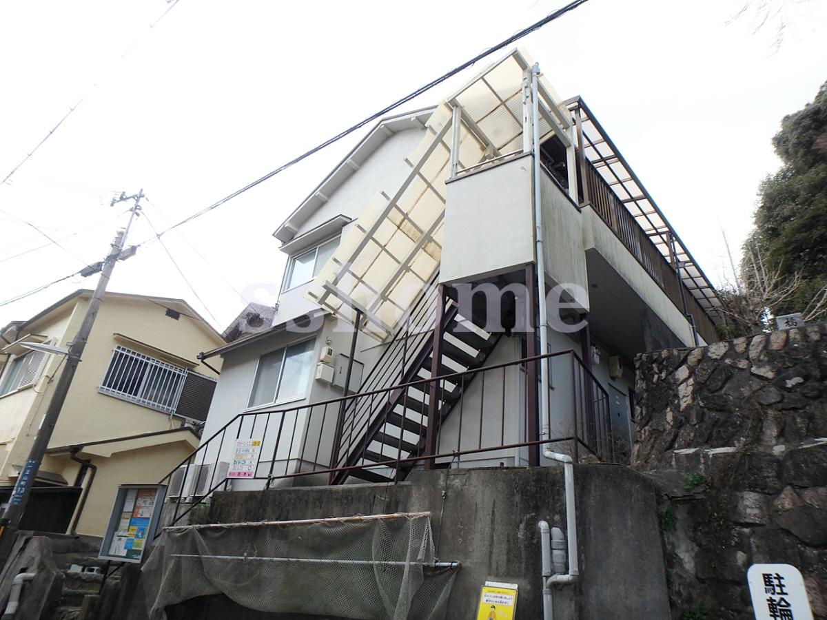 物件番号: 1123103853 土居アパート  神戸市灘区一王山町 1DK アパート 外観画像